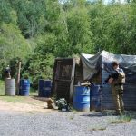 People playing airsoft